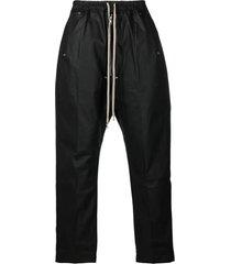 drkshdw black stretch cotton trousers