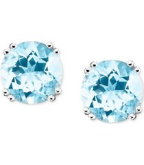 14k white gold aquamarine stud earrings (3 ct. t.w.)