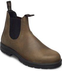 bl elastic sided boot lined stövletter chelsea boot grön blundst