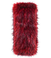 gucci faux fur scarf - red