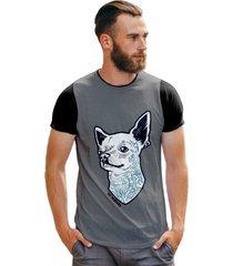 camiseta masculina dog tatoo trap style t shirt
