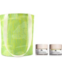 receive a free 3pc harmony cream & tote with any origins holiday gift set purchase