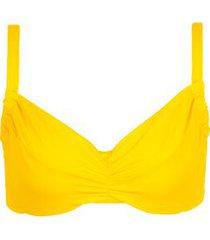 calzedonia indonesia non-padded balconette bikini top woman yellow size 4c