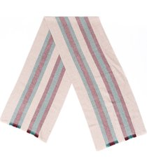 gucci web stripe scarf men's brown/multicolor sz: