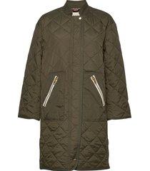 delta jacket doorgestikte jas groen lollys laundry