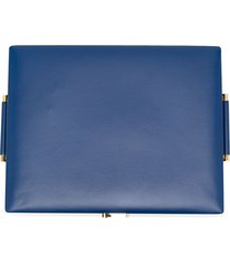 a.n.g.e.l.o. vintage cult 1990s leather jewellery case - blue