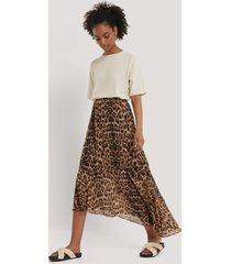 na-kd reborn återvunnen asymmetrisk kjol - multicolor