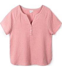 blusa manga corta rosado gap