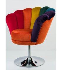 fotel joker tęczowy tapicerowany fu-100