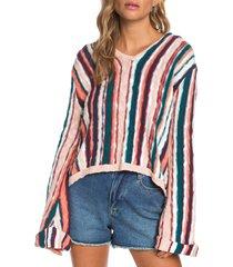 women's roxy sun express stripe cotton sweater