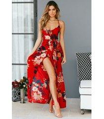 vestido de playa para mujer - rojo