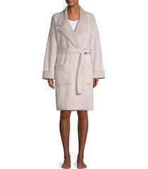 notch collar robe
