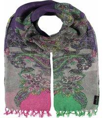 women's colorblock paisley scarf