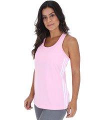 camiseta regata adidas d2m 3s tank - feminina - rosa