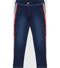 jean azul-rojo-blanco boboli