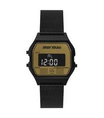 relógio digital mormaii feminino - mojh02bd preto