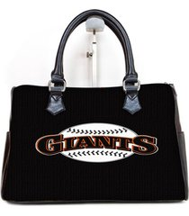 giants major league baseball logo custom barrel type handbag