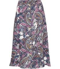 yasfaria skirt - fest knälång kjol multi/mönstrad yas