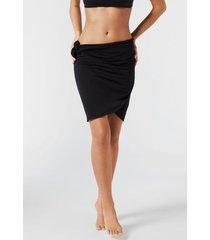 calzedonia short wraparound sarong woman black size tu