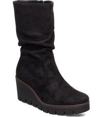 ankle boots höga stövlar svart gabor