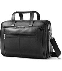 samsonite leather checkpoint friendly laptop briefcase