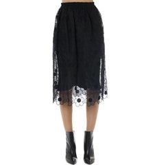 moncler genius simone rocha black silk and tulle skirt