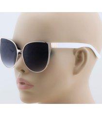 """""""barbie"""" cat eye xxl oversized metal frame plastic arm shadz women sunglasses"""