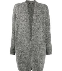 canessa dropped shoulder cardigan - grey