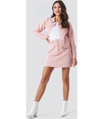 na-kd co-ord corduroy mini skirt - pink