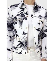 chaqueta estampado lirio crudo liola