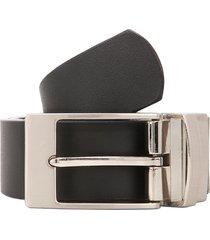 cinturon negro/café preppy reversible doble faz elegante