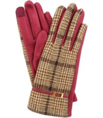 women's plaid jersey touchscreen glove