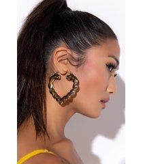 akira heat of gold bamboo earring