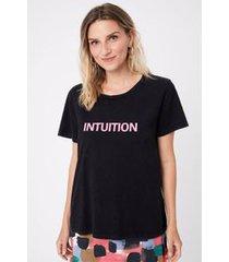 t- shirt silk intuition preto