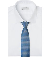 cravatta su misura, lanieri, vienna blu, quattro stagioni
