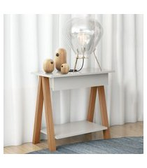 mesa cavalete vintage amêndoa off white casah