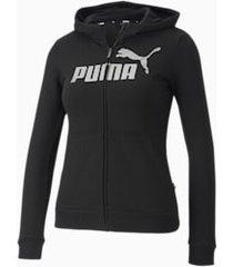 essentials+ sweaterjack met capuchon, zwart, maat 104   puma
