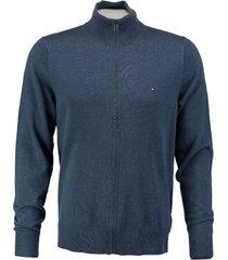 tommy hilfiger zacht blauw vest cotton silk