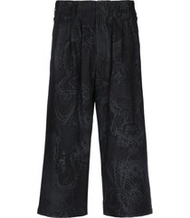 yohji yamamoto 3/4-length shorts