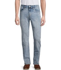 buffalo david bitton men's ash-x slim-fit stretch jeans - light stone - size 31 32