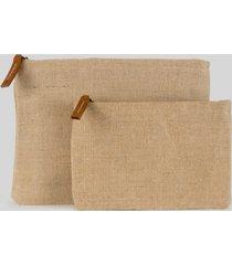shorebags women's modern jute pouch