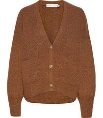inoiw cardigan gebreide trui cardigan bruin inwear