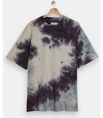 mens multi lilac and ecru tie dye t-shirt