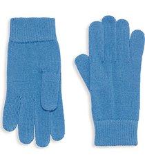 textured merino wool gloves