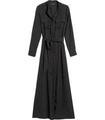 vestido maxi utility negro banana republic
