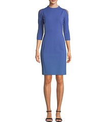 cold-shoulder sheath dress