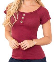 blusa belinda vinotinto para mujer croydon