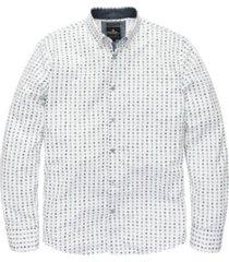 wit geprint heren overhemd vanguard - vsi177400