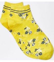 loft floral stripe ankle socks