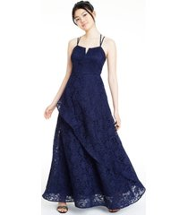 bcx juniors' glitter-lace layered gown